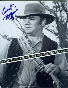 ERNEST-BORGNINE-SIGNED-EARLY-B-amp-W-8x10-PHOTO-034-THE-WILD-BUNCH-034-034-McHALE-039-S-NAVY-034