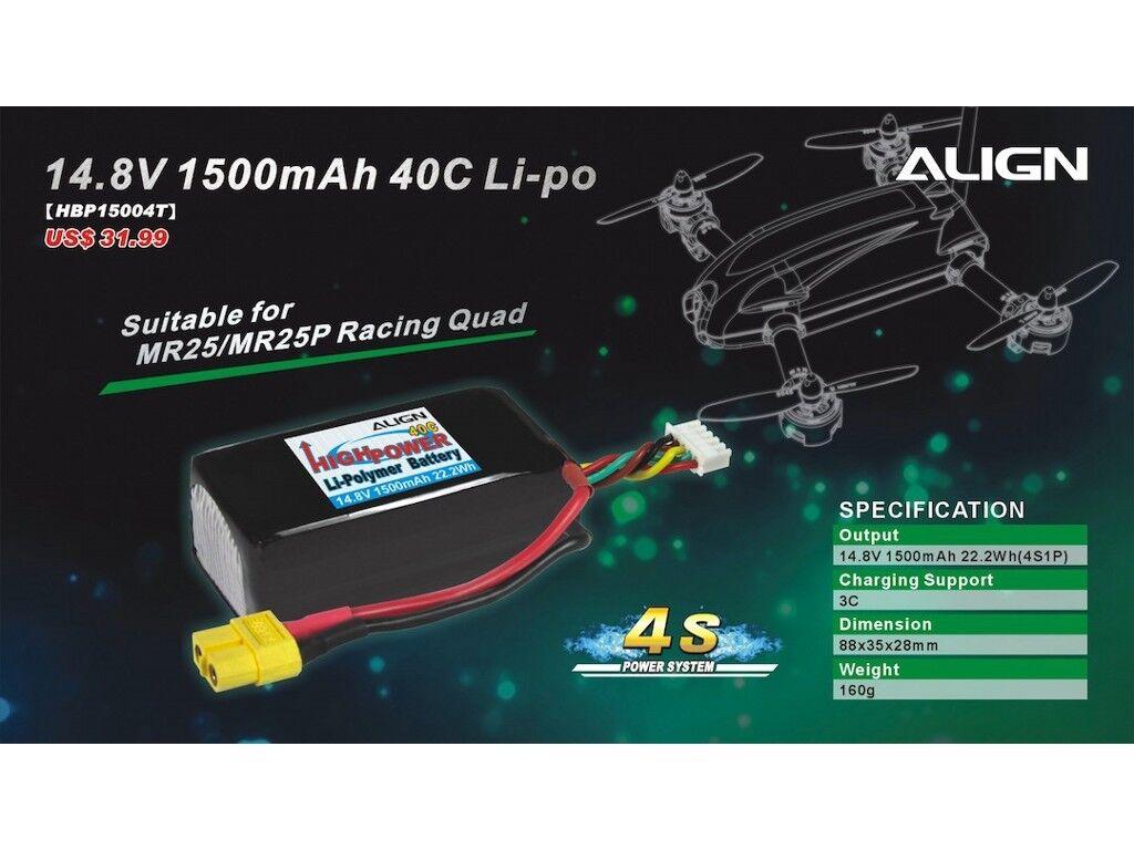 Align 4S1P 14.8 V 1500mAh/40C - MR25 MR25 MR25 32f63d