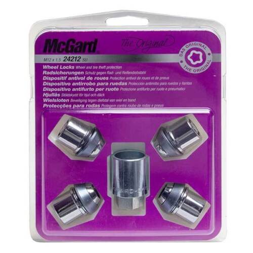 07-14 McGard Locking Wheel Nuts 12x1.5 Bolts for Ford Mondeo Mk4