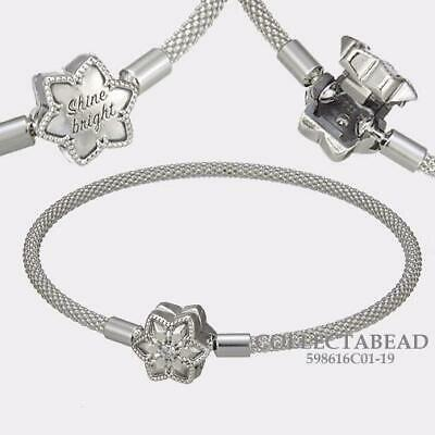 Authentic Pandora Silver Shine Bright Snowflake Bracelet 598616C01-19 with  BOX | eBay