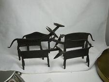 Lot of 6 Handmade Artisan Metal ANIMAL SCULPTURES or FIGURINES Made in AFRICA