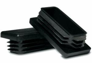 """1 Plastic Blanking End Cap 50mm x 25mm Rectangle 2 x 1/"""""""