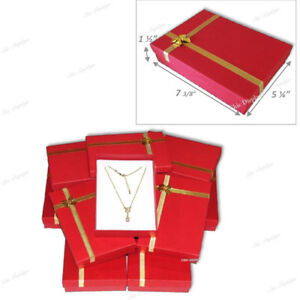 Details About Jewelry Box For Necklace Presentation Necklace Box Red Jewelry Boxes Bulk 12 Pc