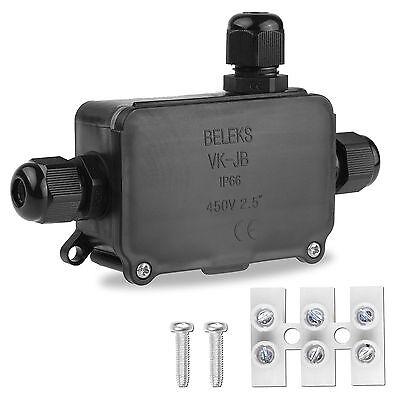 IP66 2/3 WAY Outdoor Waterproof Junction Box Plastic Electric Enclosure Case