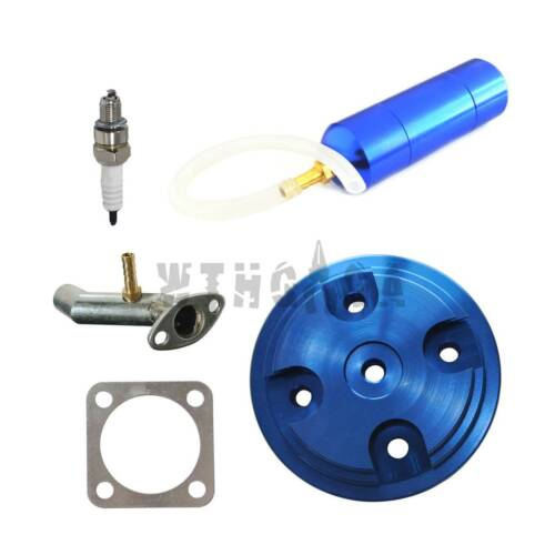 CNC Cylinder Head Cover Power Boost Bottle Fit 80cc Motorized Bicycle Colorful