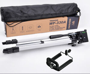 portableTripod-Stand-Weifeng-WT-330A-Phone-Clip-Kit-for-Video-Camcorder-camera