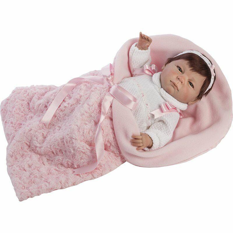 Berbesa - Mi pequeño Reborn realista vestido Rosa 45 cm (4500)