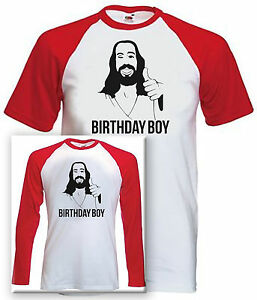 Image Is Loading Jesus Birthday Boy Baseball T Shirt Long Short
