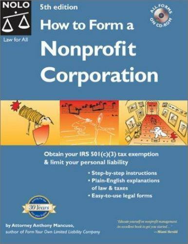 How to Form a Nonprofit Corporation (5th Edition)-ExLibrary