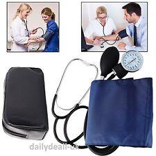 Blood Pressure Monitor Nylon Cuff Manual Sphygmomanometer & Stethoscope BP Kit