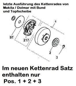 Kettenrad Makita EA3200S 3201S 3202 3203S 3500S 3501S Kettensäge neue Ausführ.