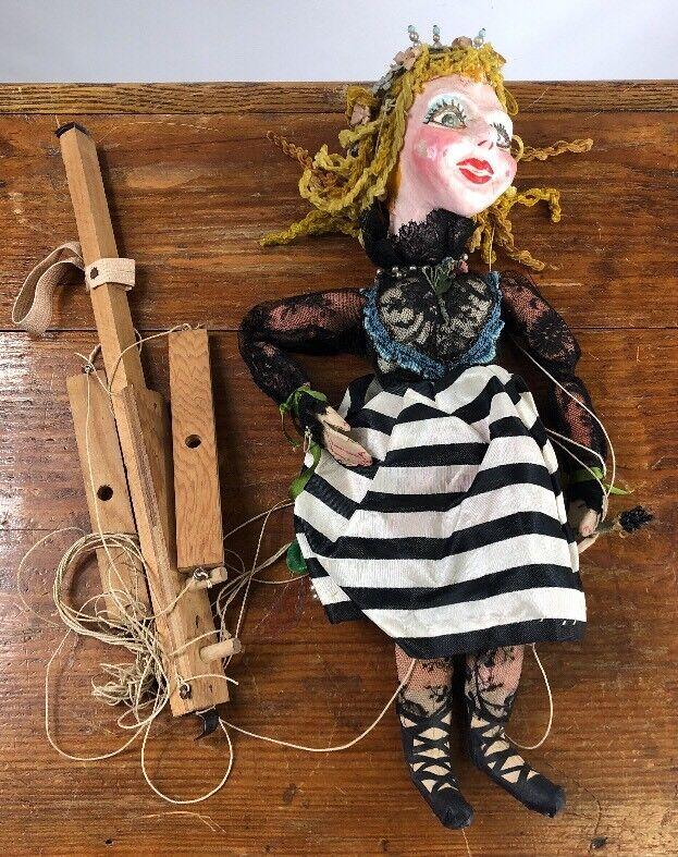 Antique Hand Made PAPER MACHE FOLK ART Puppet