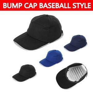 BUMP CAP VENTED SAFETY HARD HAT SCALP HEAD PROTECTION MECHANIC BASEBALL