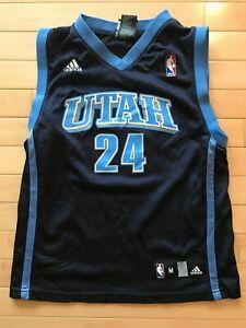 timeless design 05e92 d96d8 Details about Utah Jazz Youth Jersey Size Boys Sz Medium Paul Millsap Adidas