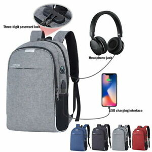 Men-039-s-and-women-039-s-anti-theft-USB-charging-backpack-laptop-shoulder-bag-travel
