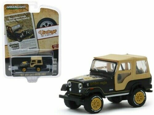 Jeep cl-5 golden eagle 1977 vintage ad cars series 2 1:64 GreenLight