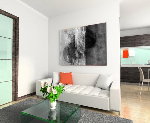 Leinwandbild abstrakt schwarz grau weiß Paul Sinus Abstrakt/_784/_120x80cm