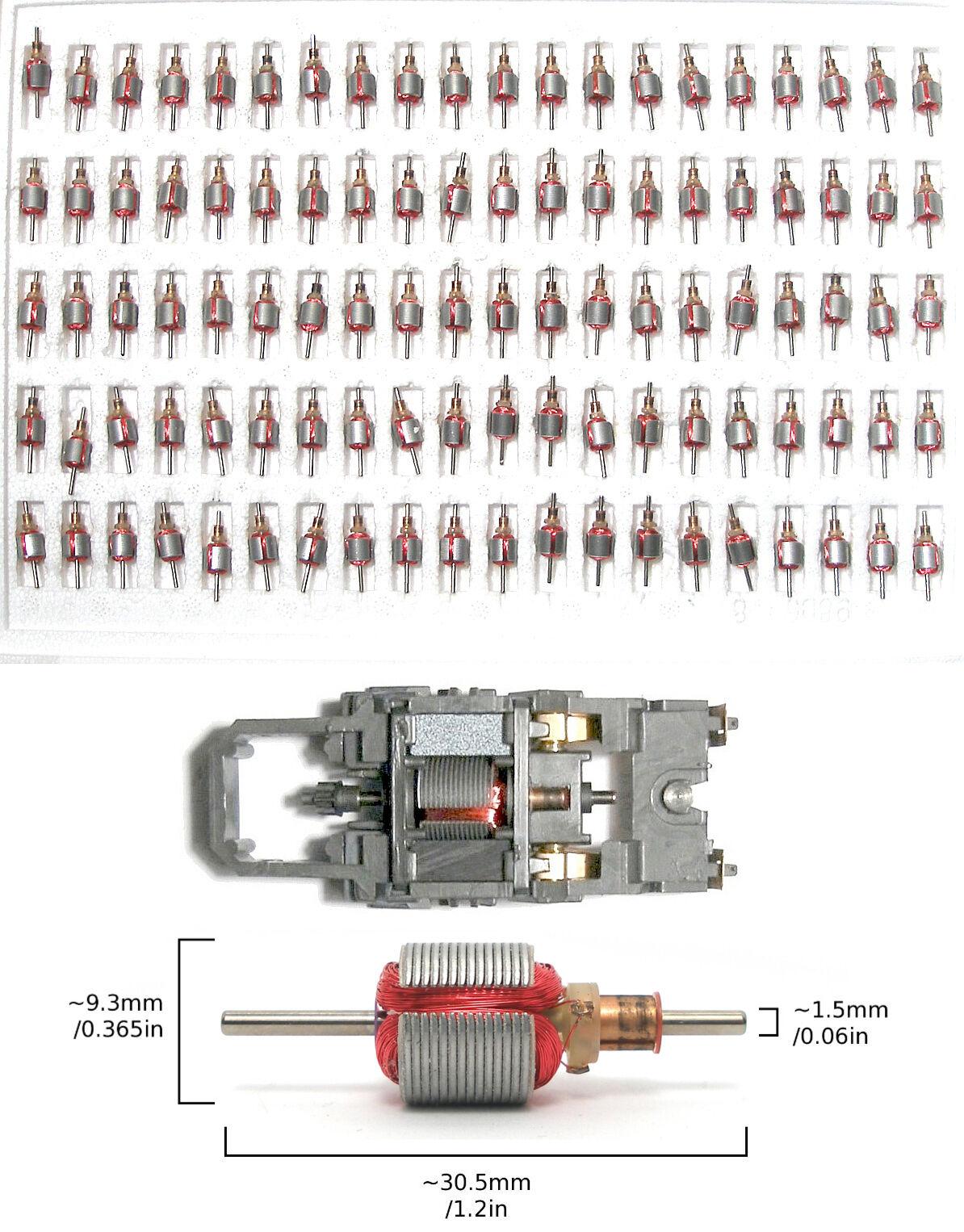 100 Tyco 440-X2 Factory slot car Armature frais inutilisés