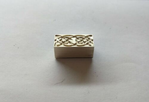 Stamp for leather and paper craft with celtic pattern from Brass