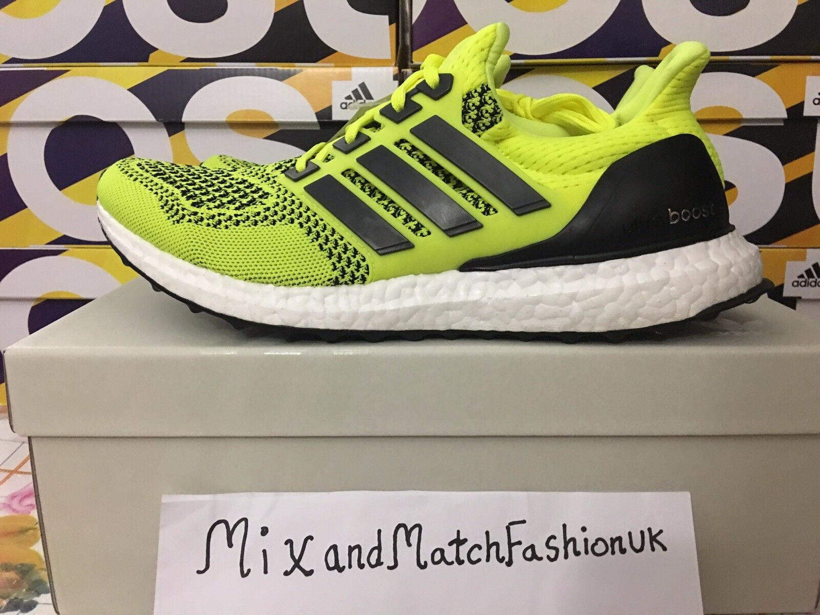 e90f9e134dc adidas Ultra Boost Solar Yellow S77414 UK 8.5 for sale online