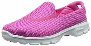 Skechers-Performance-Women-039-s-Go-Walk-3-Slip-On-Walking-Shoe-Hot-Pink-6-M-US