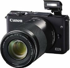 NEW w/ 2 Lenses Canon EOS M10 Mirrorless Black EF-M15-45 IS & EF-M55-200 IS STM