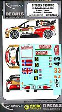 MF Zone Decals 1/24 CITROEN DS3 WRC 82 Rally Monte Carlo 2014