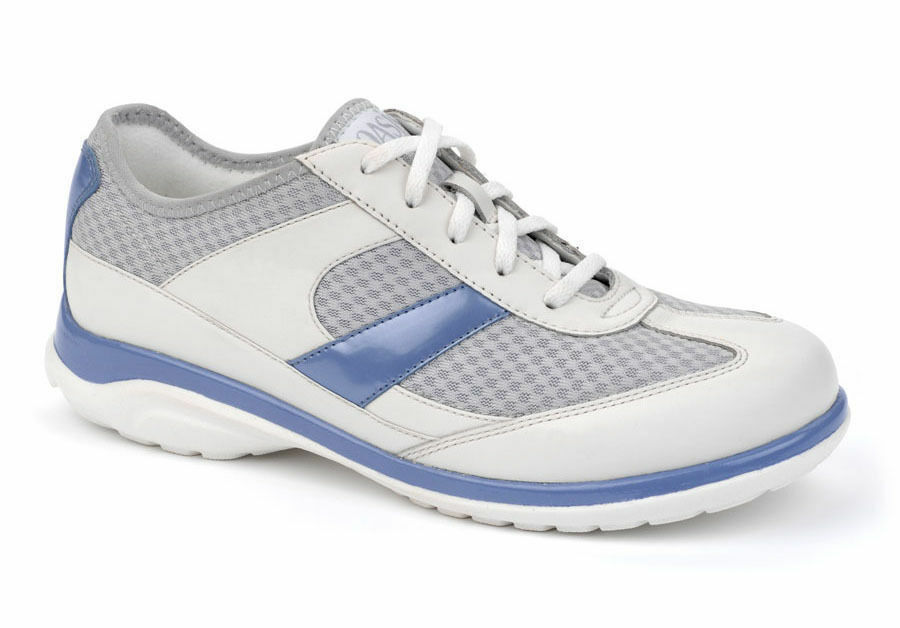 Oasis Emma Women's Leather Mesh Sneakers - White bluee - Extra Depth - New in Box