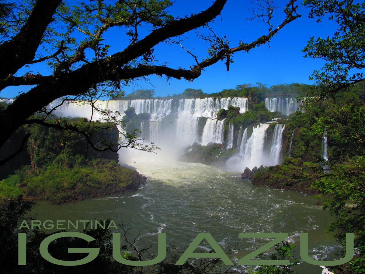 16x20  CANVAS Decor.Room art print.Travel shop.Iguazu Falls Silberina.6039