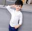 Teenager Kids Boys Korean Blouse Long Sleeve Casual Shirt Gentleman Tops Blouse