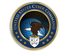 4x4 inch Round CYBERCOM Cyber Command Seal Sticker - logo us united computer com