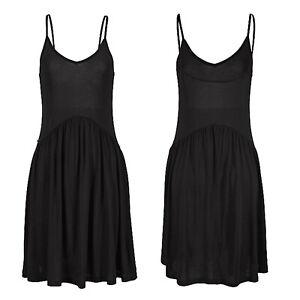 tolles-mini-Kleid-in-schwarz-Gr-40-L-Strandkleid-Sommerkleid-Jersey-Shirtkleid