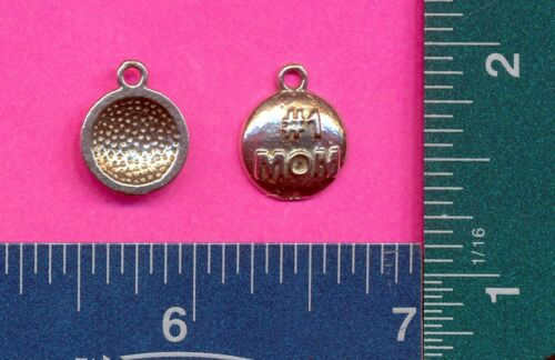 100 wholesale lead free pewter #1 mom charms 1247