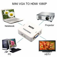 VGA TO HDMI 1080P HDTV Video Audio Adapter Box For PC Laptop VGA-HDMI Converter