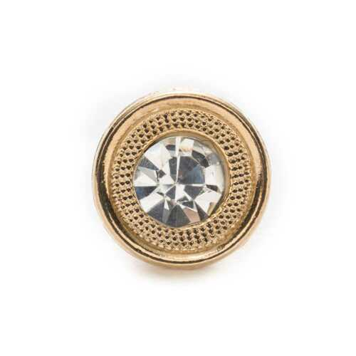 10pcs Zircon Round Metal Buttons for Sewing Scrapbook Clothing Crafts Card Gifts