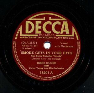 IRENE-DUNNE-on-1942-Decca-18201-Smoke-Gets-in-Your-Eyes-I-039-ve-Told-Every