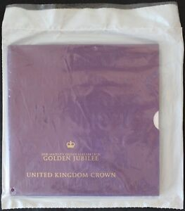 2001-Queen-Elizabeth-II-Golden-Jubilee-5-Coin-039-Sealed-Pack-039-Coins-KM-Coins