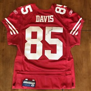 Details about Vernon Davis Signed Autographed Game / Team Issued 49ers Jersey Reebok