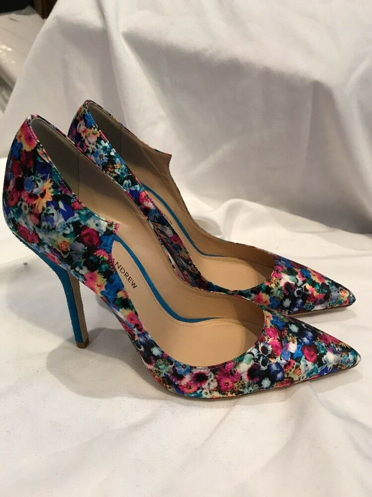 PAUL ANDREW FOR J CREW PRINTED PUMPS SZ.9.5 NEW  425   E1328