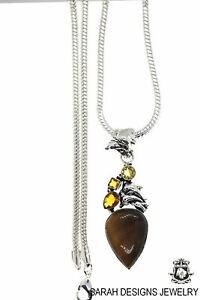 Bumblebee Jasper Pendant 4MM Italian Snake Chain P6802