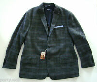 Daniel Cremieux Gray Plaid Suede Patch Jacket 2xl 48