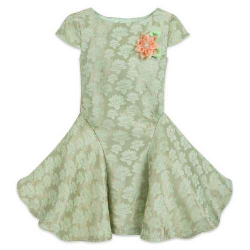 NWT DISNEY STORE Tiana Party Dress Girls 5//6,9//10 Princess and the Frog
