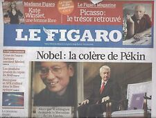 LE FIGARO N°20641 11/12/2010 PRIX NOBEL: CHINE EN COLERE_AREVA_LLOSA_HAMON_ECOLE