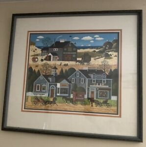 Charles-Wysocki-034-Devilstone-Harbor-034-Hand-Signed-and-Numbered-Matted-And-Framed