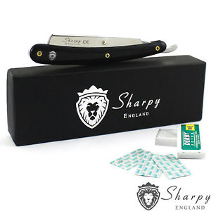 SHARPY-ENGLAND-BEARD-CUT-THROAT-SHAVING-RAZOR-RASOI-FREE-BLADES-AND-GIFT-BOX