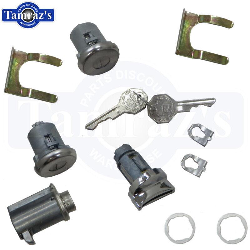 66 Chevelle 65 Chevy 66-7 Nova Ignition Door /& Trunk Lock Kit Original Key Style