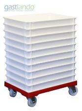 10+1 - Set 10x Pizzateigbehälter + Transportroller Lagerbedarf Gastlando