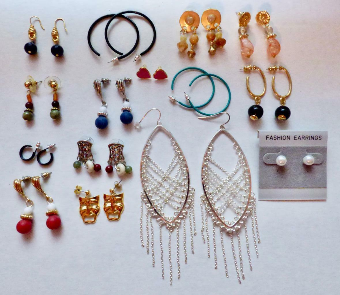 `Wholesale Lot Of 15 Pairs Of Pierced Earrings New! Lot Number 25 FREE SHIPPING!