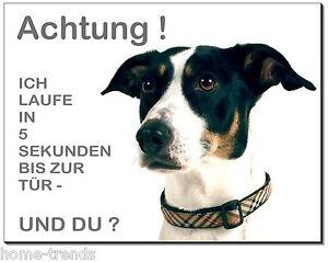 Vorsicht-Hund-Aluminium-Edelstahl-Optik-Schild-15 x10 cm-Warnschild-Tier