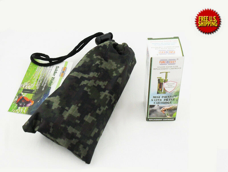 Pureasy Mini Soldier Water Filter for Outdoor   Emergency + Replacement Cartridge  lowest prices
